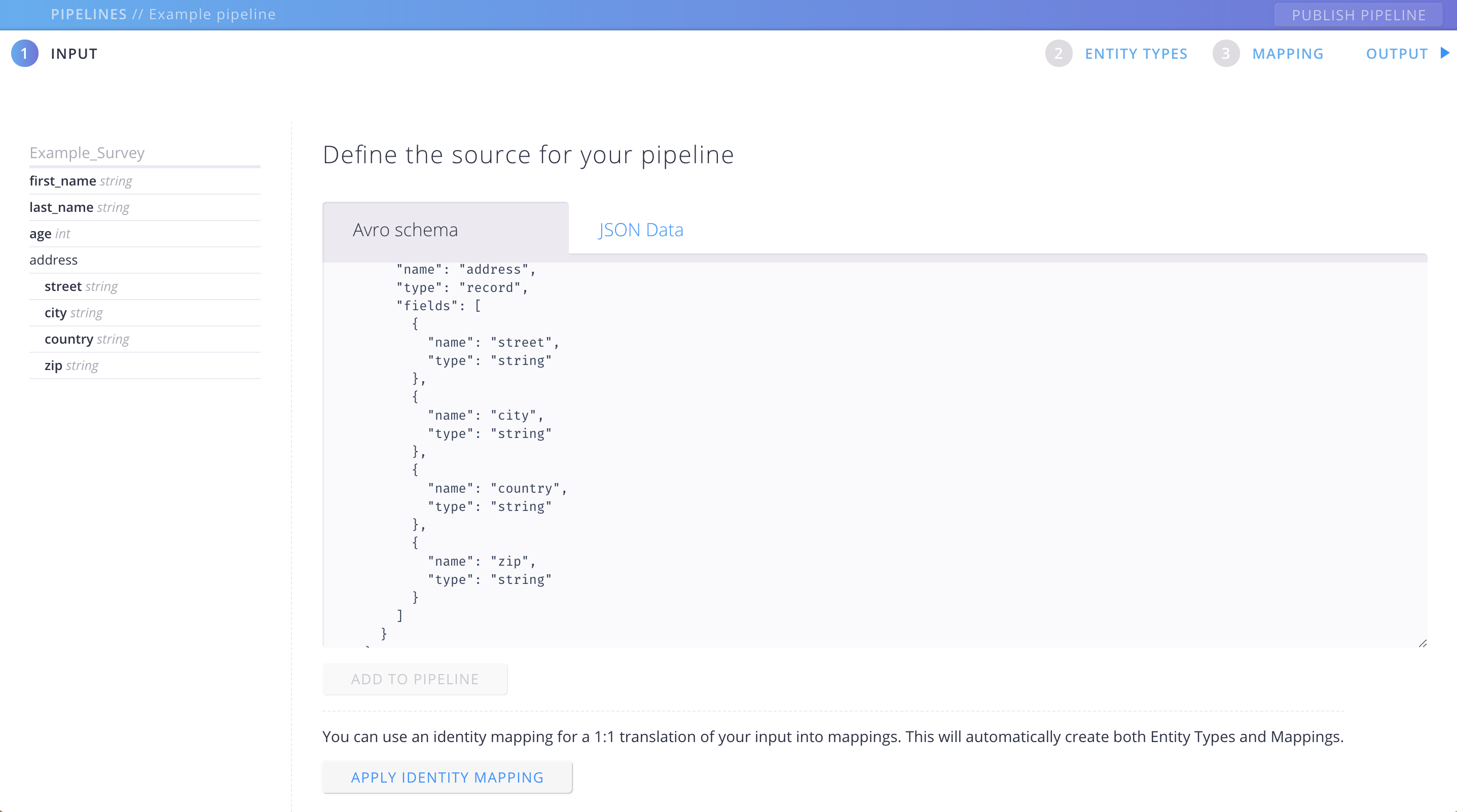 Aether - Create a pipeline